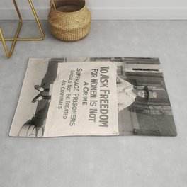Freedom For Women Is Not A Crime Rug