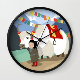 A child and his best friend Wall Clock