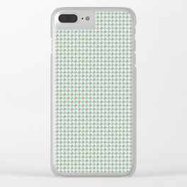 Amphibians Hopping Houndstooth Pattern Clear iPhone Case