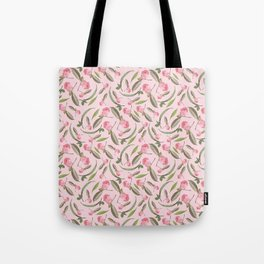 Camellia Flowers Pattern Tote Bag