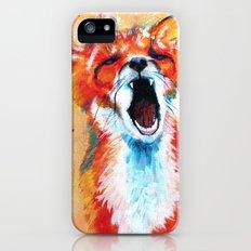Sleepy Fox iPhone SE Slim Case