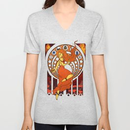 Heart of Fire Unisex V-Neck