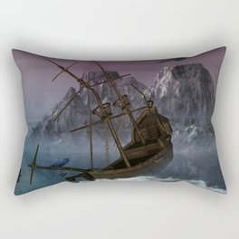 Awesome shipwreck in the night Rectangular Pillow