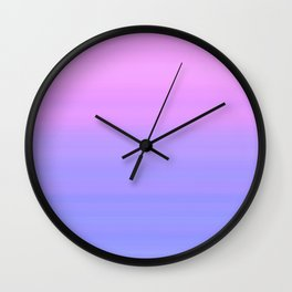 Pastel Pink Blue Stripes   Abstract gradient pattern Wall Clock