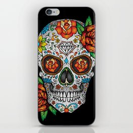 Sugar Skull, Day Of The Dead iPhone Skin