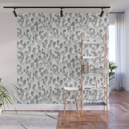 GRAY TRYPOPHOBIA, cactus pattern by Frank-Joseph Wall Mural