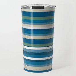 Summer Breeze Stripes Travel Mug