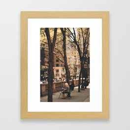 Watching 5th Avenue Framed Art Print