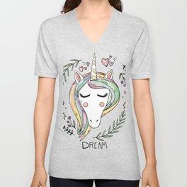 Cute Unicorn Unisex V-Neck