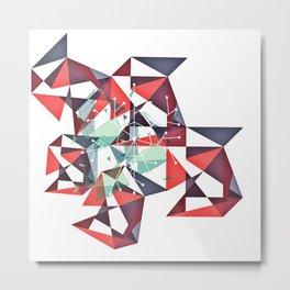 Midcentury geometrical abstract nr. 004 Metal Print
