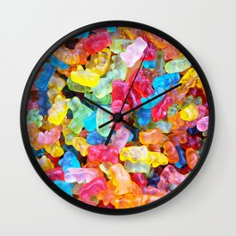 Gummy Bear Don't Care Wall Clock