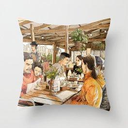 Farm Cafe Throw Pillow