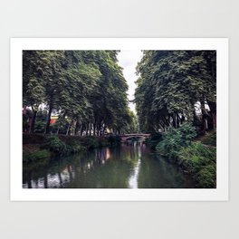 Canal de Brienne in the center of Toulouse Art Print