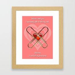 Clip Heart Valentine Framed Art Print