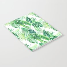 palm leaves watercolor pattern Notebook