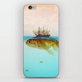 Goldfish Tall Ship iPhone Skin