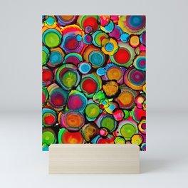 Conscious Overlap (Alcohol Inks Series 03) Mini Art Print