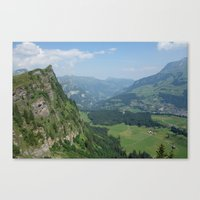 switzerland Canvas Prints featuring Switzerland by Melfaber