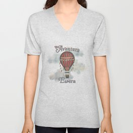 La Aventura Espera (Adventure Awaits in Spanish) Unisex V-Neck