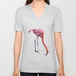Pink Flamingo Mirage Unisex V-Neck