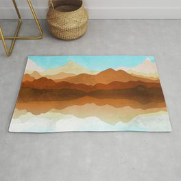 Western Sky Reflections In Watercolor Rug