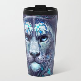 Snow Leopard Late Night Travel Mug