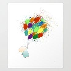 Burst! Art Print