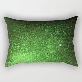 Green and Black Spray Paint Splatter Rectangular Pillow