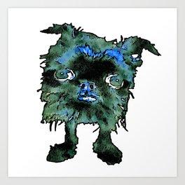 Lugga The Friendly Hairball Monster For Boos Art Print