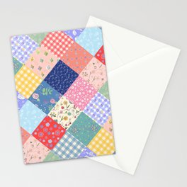 Happy patchwork quilt Stationery Cards