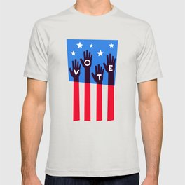 Vote Hands Flag T-shirt