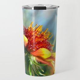 Arizona Sun Flower Macro Photo Travel Mug