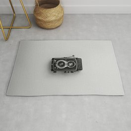 Old Camera (Black and White) Rug