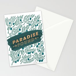 Paradise Found – Teal Stationery Cards
