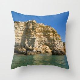 Rocky Coastline Throw Pillow