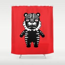 Kuro the Black Tiger Shower Curtain