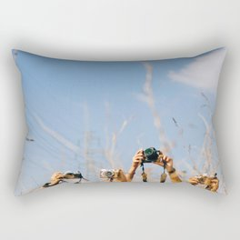 lenses in the air Rectangular Pillow