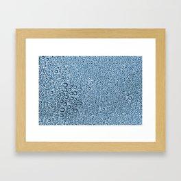 Water Condensation 05 Blue Framed Art Print