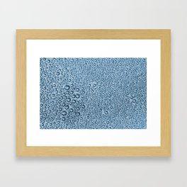 Water Condensation 05 Blue Framed Art Print