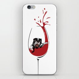 Had a ruff day?  It's wine time! iPhone Skin