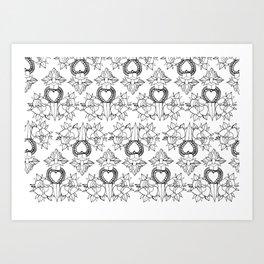 Tattoo design pattern Art Print
