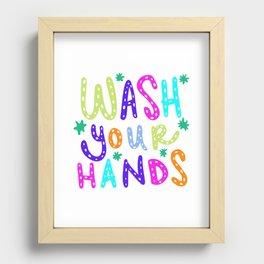 Wash Your Hands Design by Jelene Recessed Framed Print