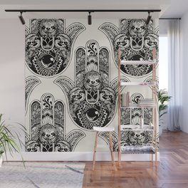 Hamsa Hand Sloth Wall Mural