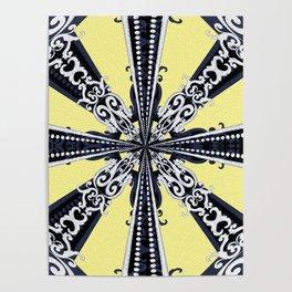 Boujee Boho Rococo Mandala Poster