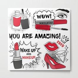 Make up background design Metal Print