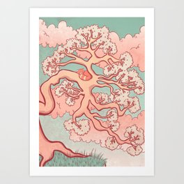 Sweet Dreams, Red Panda Art Print