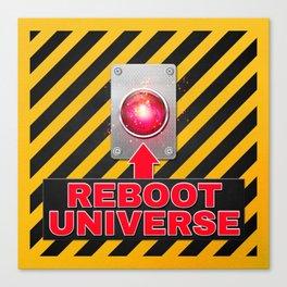 Reboot Universe Button Canvas Print