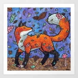 Fantasy Forest Fox Art Print