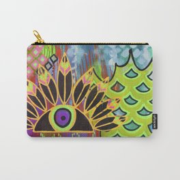 Feathered Eye Original Artwork by Rachael Rice Carry-All Pouch