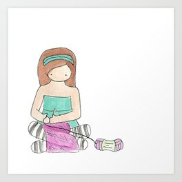 Charlie's Hobbies - Crochet Art Print